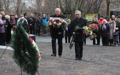 Připomenutí památky zesnulých horníků při výbuchu v dole Nelson III. v  Oseku