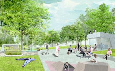 Obnova parku Střed v Mostě